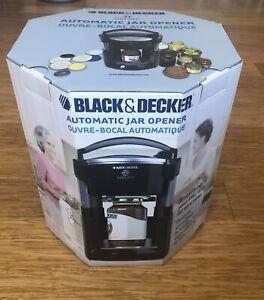 Black & Decker LIDS OFF Automatic Electric Jar Opener JW200B Black NEW IN BOX!