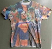 New DC Comics Superman Batman Superheroes Sublimated Graphic Tee T-Shirt Top M-L