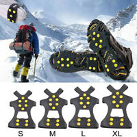 Non-slip Snow Cleats Shoes Boots Cover Step Ice Spikes Grips Crampons For  AKM