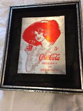 Vintage Coca Cola Shadow box Sign