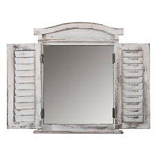 SPECCHIO  shabby chic a persiana colore bianco 53x42x5cm