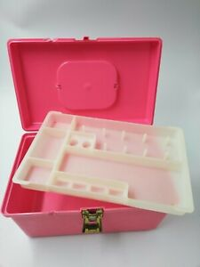 Vintage Wilson Wil-Hold Plastic Sewing Box Removable Tray Pink Made in USA