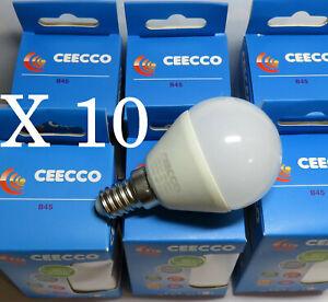 10 ampoules LED 3W E14  3000K Petit Globe
