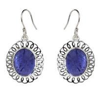 Designer Tanzanite Gemstone 925 Sterling Sliver Earring Shine Jewelry SHER0292