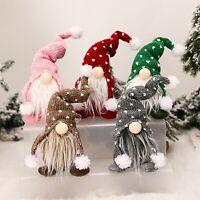 Cartoon Santa Claus Plush Doll Gnome Christmas Ornament Party Decor Kids Gift UK