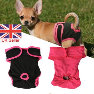 Physiological Pants for Female Dogs Pet Cat Sanitary Nappy Diaper Underwear UK