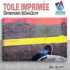 60x40cm - TOILE IMPRIMÉE - TABLEAU MODERNE DECORATION MURALE - DJ DIAZE - DL-01