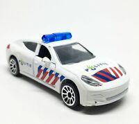 Majorette Porsche Panamera Politie Natherland Police Car White 1/64 Defected 001