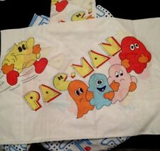 PAC MAN SHEETS VINTAGE 1980s FULL SIZE WITH PILLOWCASES