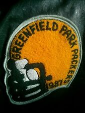 Vintage 1987 Greenfield Park Packers team leather jacket