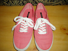 """Girl's, """"FOREVER 21, SNEAKERS"""", Salmon color, size 6, lace top"""
