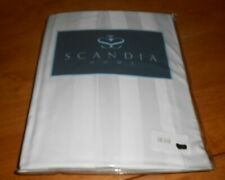 Scandia Home Style G811 White Tailored Bed Skirt Full Size Sateen Pin On * $145