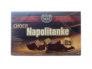 Waffeln-Napolitanke Kras mit Schokoladenüberzug 250 g, Kras Napolitanke