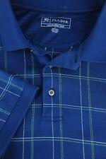 Jos un Banco Hombre Leadbetter Golf Azul Verde y Blanco Geométrico Camisa L