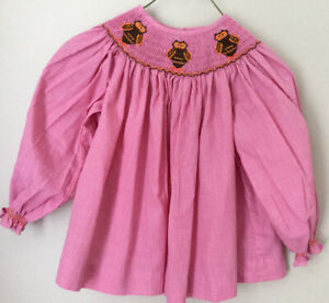 Toddler Girls NWOT Lolly Wolly Doodle Smocked Owls Bishop Top Size 3T
