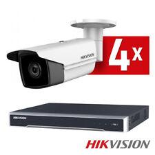 Hikvision 4x 4K UHD Bullet Überwachungskameraset PoE WDR H265+ Videoüberwachung