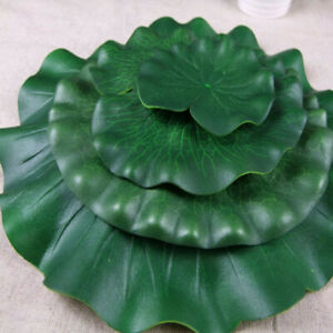 10pcs Fake Artificial Lotus Leaves Flower Plastic Water Lily Floating Pool Decor