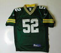 Reebok Mens 50 Clay Matthews Jersey Green Bay Packers NFL Football Fan #52 Sewn