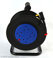 4 Way 20m Heavy Duty Cable Extension Reel Lead Main Socket 240v F3G1.5mm