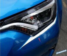 For Toyota RAV4 Rav 4 2016 - 2018 Chrome Front Head Light Lamp Eyelid Cover Trim