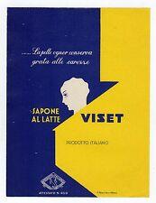 etichetta pubblicitaria SAPONE AL LATTE VISET