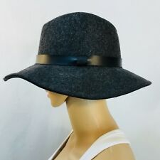 NWOT GAP hat, wool fedora, charcoal gray, size S/M