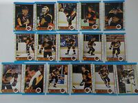 1989-90 O-Pee-Chee OPC Vancouver Canucks Team Set of 16 Hockey Cards