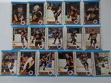 1989-90 O-Pee-Chee OPC Vancouver Canucks Team Set of 16 Hockey Cards