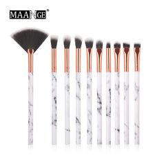 10Pcs Marble Makeup Brushes Cosmetic Powder Foundation Eyeshadow Lip Brushes Set