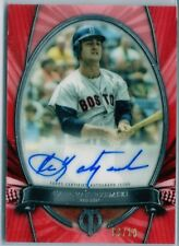 /10 Carl Yastrzemski Red Sox 2017 Topps Tribute Red AUTO Autograph SP HOF