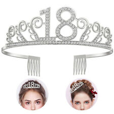 Girls Birthday Princess Headband 18th Tiara Crown Hair Accessories with Comb UK