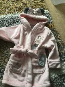 GIRLS DISNEY MINNIE MOUSE DRESSING GOWN AGE 2 YEARS