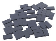 LEGO - 40 x Fliese 1x2 dunkelgrau  Kachel / Dark Bluish Gray Tile 3069b NEUWARE