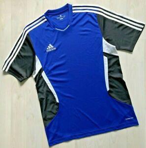 Adidas Climacool 3Strips T-Shirt Herren Gr.M Fb.royalblau-schwarz-weiß