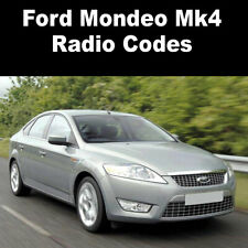 Ford Mondeo Mk4 Radio Code Stereo Codes Pin Car Unlock Fast Service 6000cd