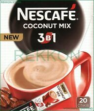 Nescafe Nestle COCONUT 3 in 1 Instant Coffee Mix Box of 20 Sticks x 16g 320g