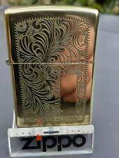 1998 Zippo lighter Solid Brass Venetian