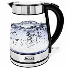 Zeppoli Electric Kettle, Fast Boiling Glass Tea Kettle