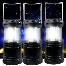 3 Portable LED Camping Lantern Lamp Light Rechargeable Outdoor Flashlight Hiking