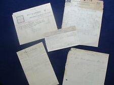 New Listing1884-1904 (5) Belton,Texas documents,letterheads,sig ned letter,(town names) lot