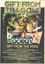 Gift From The Gods Ocean Spectrum Games 1985 Vintage Magazine Advert #5286