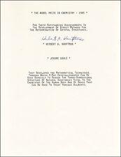 HERBERT A. HAUPTMAN - TYPESCRIPT SIGNED