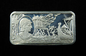 1000 Grains Sterling Silver Ingot Bar 1000 Years of British Monarchy AETHELRED