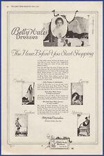 Vintage 1919 BETTY WALES Dresses Women's Fashion Print Ad