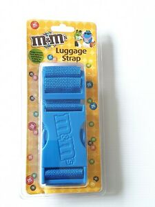 NEW M&M's Luggage Suitcase Strap Heavy Duty Woven Strap In Royal Blue
