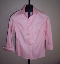 NWT Christine Alexander Pink (Fitted) Blouse W/Crystals SZ S