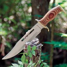 """Timber Rattler JUNGLE FURY Bowie Knife with Blood Groove -BIG 15 1/2"""" Length!"""