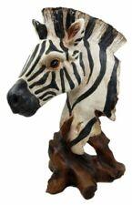 """African Savanna Equid Zebra Horse Wildlife Nature Head Bust Figurine 11.5""""H"""