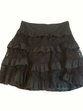 Libertine For Target Full Skirt w/Lace & Ruffles Black Size 5