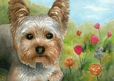 ACEO art print Dog 117 Yorkshire from painting by L.Dumas